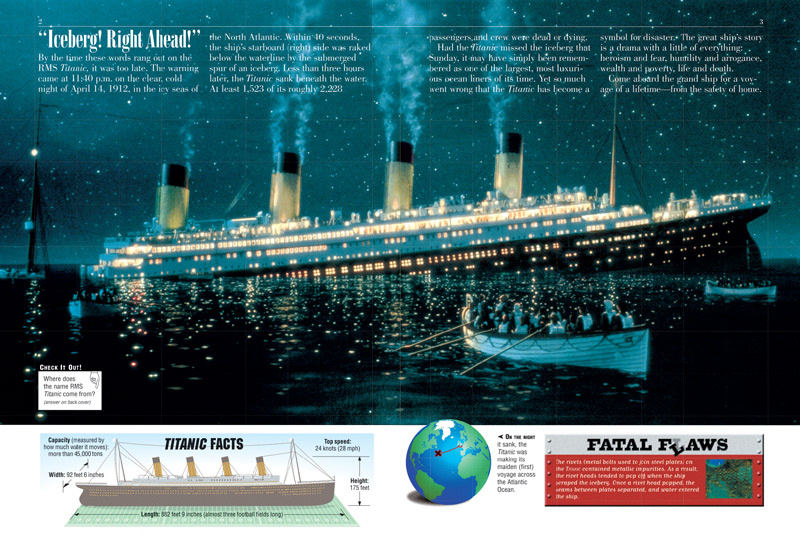 titanic facts for projects Titanic facts and statistics on april 10, 1912 the rms titanic set out from southampton, england on her maiden voyage across the north atlantic the titanic was the shining jewel of the white star line, and she was thought to be unsinkable.