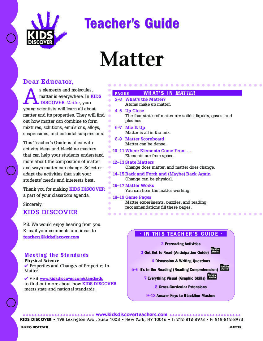 Matter+Activities+Sheets of matter for kids worksheets matter physical ...