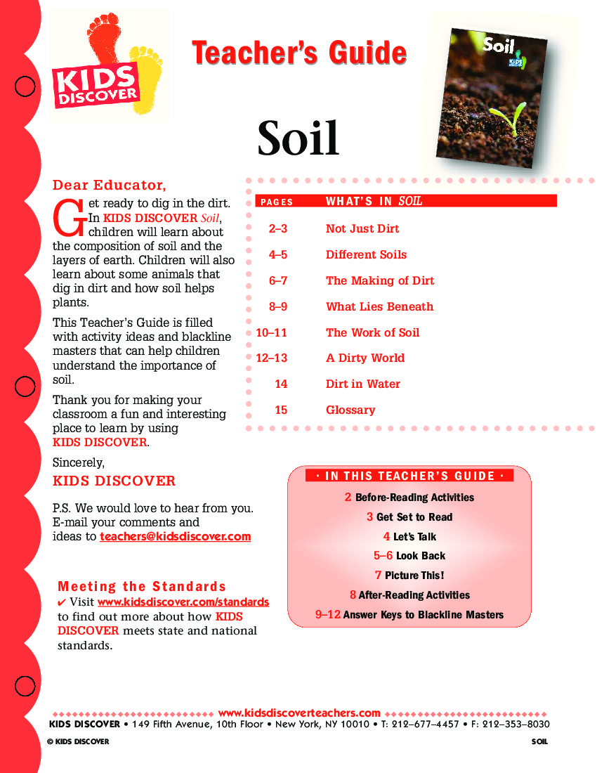 Soil kids discover for Importance of soil for kids