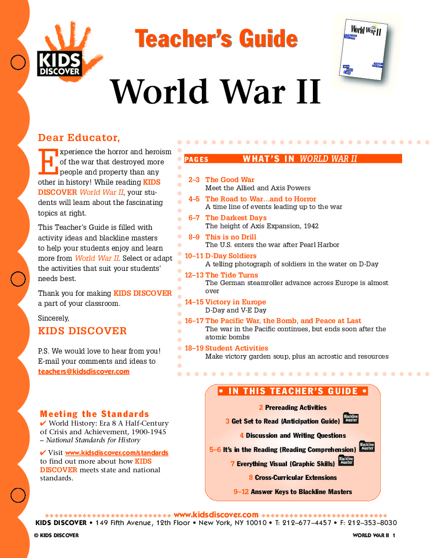 worksheet World War 2 Worksheets world war ii kids discover tg 094 jpg ii